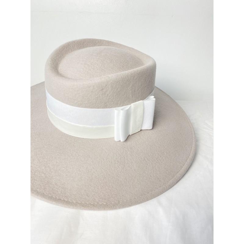 LEONIE Fedora Hat Greige