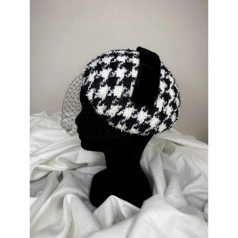 ANDREA Houndstooth Fascinator
