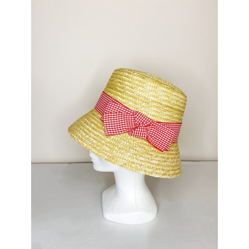 Chapeau BROOKE Vichy Rouge