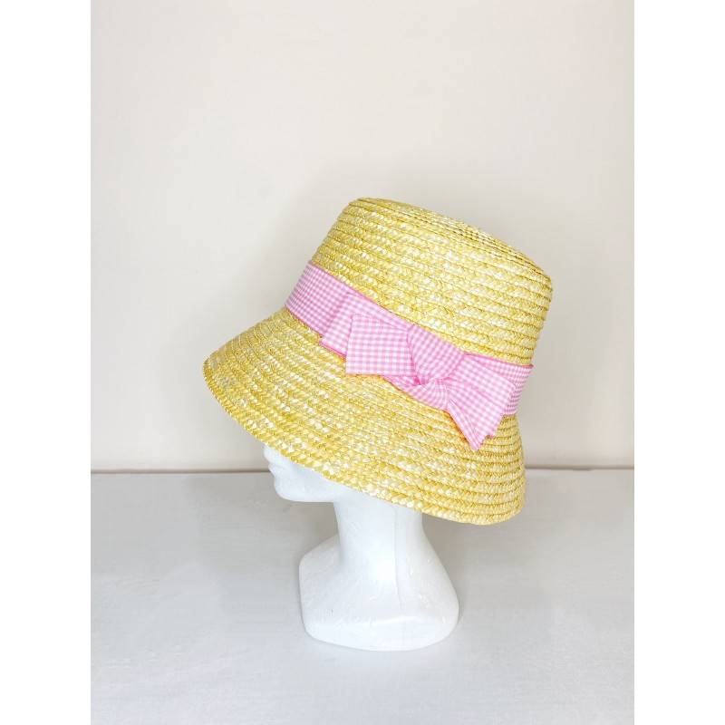Chapeau BROOKE Vichy Rose