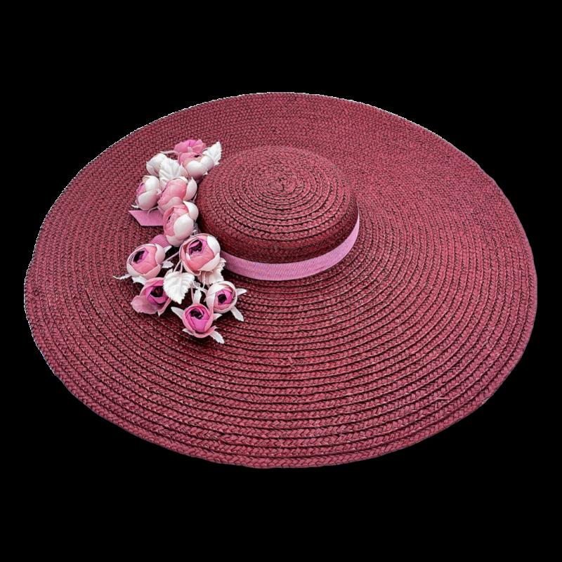 DEBBIE DOLL Hat in Burgundy