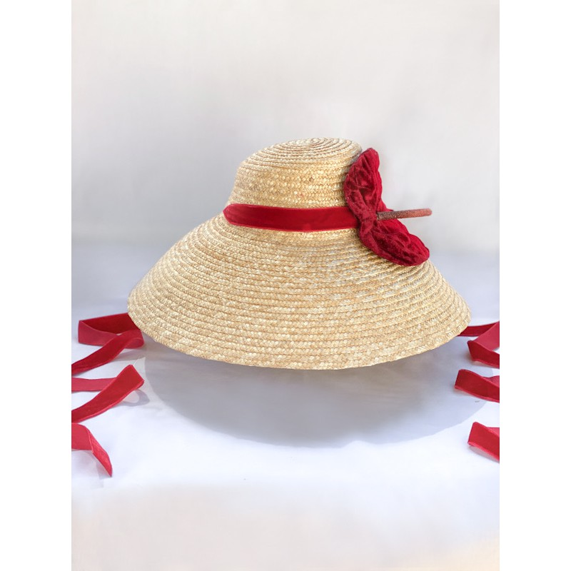 STELLA Hat in Cherry Red